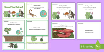 Australia - Science -Would You Rather...? Biological Sciences Years 5-6 Question Cards KS2 Question Cards - ACSSU043, adaptation, ACSSU094, migration, hibernation, would you rather, science cards, Australian