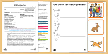 EYFS Who Chased the Runaway Pancake? Adult Input Plan and Resource Pack - EYFS, Early Years planning, The Runaway Pancake, traditional tales, pancake day, Shrove Tuesday, pan