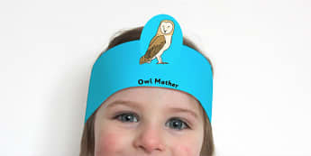 Owl Babies Role Play Headbands - roleplay, props, stories, books
