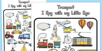 Transport Themed I Spy With My Little Eye Activity - australia