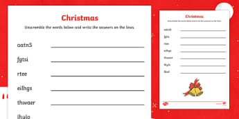 Christmas Word Unscramble Activity - ESL Christmas Resources