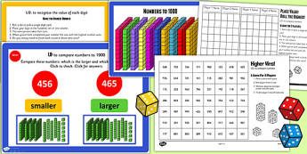 Year 3 Numbers to 1000 Lesson 3 Teaching Pack - numeracy, maths
