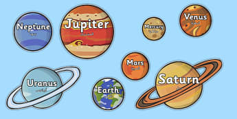 The Planet Names Words on Planets Arabic Translation - arabic, plant, space, space display
