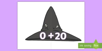 Witches Hats Number Bonds to 20 Activity - Witches Hats Number Bonds to 20 Activity - EYFS, Early Years, KS1, Room on the Broom, Julia Donaldso
