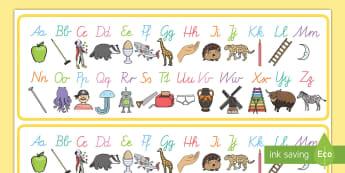A-Z Alphabet für die Klassenraumgestaltung - A-Z Alphabet für die Klassenraumgestaltung, ABC, Das Alphabet, Alphabet, Buchstaben lernen, ABC ler