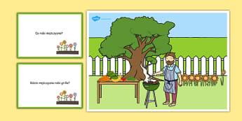Karty z pytaniami Grill po polsku - lato, przyjęcie, ogród