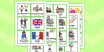 KS2 Visual Timetable Arabic Translation - arabic, timetable
