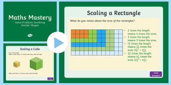 Year 6 Ratio: Solve Problems Involving Similar Shapes Maths Mastery Activities PowerPoint