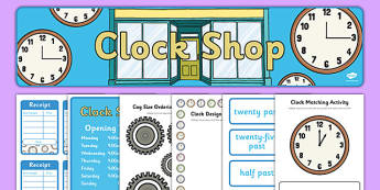 Clock Shop Role Play Pack - clock shop, role play, clock, shop, roleplay, pack