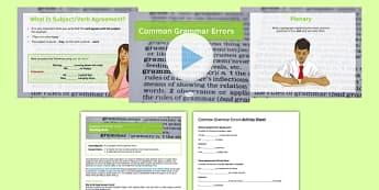 Common Grammar Errors Lesson Pack - grammar, SPaG, common, errors, lesson pack