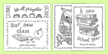 Back to School Themed Mindfulness Colouring Polish Translation-Polish-translation