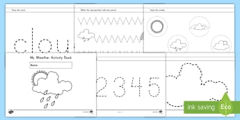 Weather Fine Motor Skill Activity Booklet - fine motor, weather, activity booklet, tracing, pre-k fine motor skills, kindergarten fine motor ski
