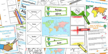 Countries of the World Lapbook Creation Pack - lapbooks, pack
