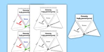Interaktywna pomoc wizualna Bryły geometryczne - bryły, pomoc, edukacyjna, dydaktyczna, wizualna, interaktywna, siatka, wytnij, wklej, bryła, geome