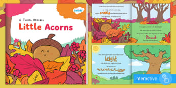 Little Acorns eBook - story, outdoor, life cycle, tree, seasons, acorn, oak, british tree, ks1, reading, book