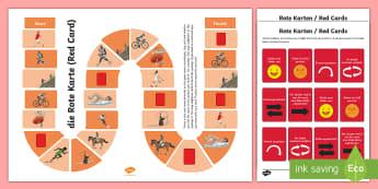 Sports Board Game - German - Sports, Hobbies, German, board game, game, phrases, MFL, languages, DAF, DAZ, Sportarten