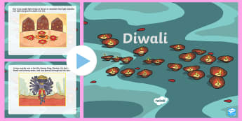 All about Diwali PowerPoint  - diwali, powerpoint, Rama, Sita, Hindu, culture, holiday, India