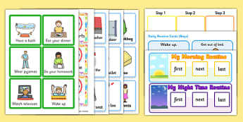 SEN Visual Timetable Resource Pack - visual, timetable, pack