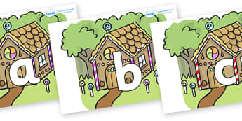 Phoneme Set on Gingerbread House - Phoneme set, phonemes, phoneme, Letters and Sounds, DfES, display, Phase 1, Phase 2, Phase 3, Phase 5, Foundation, Literacy