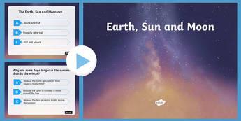 Earth Sun and Moon - earth sun and moon, quiz, earth, sun, moon