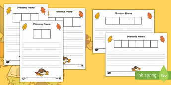 Autumn Themed Phoneme Frame Activity Sheets