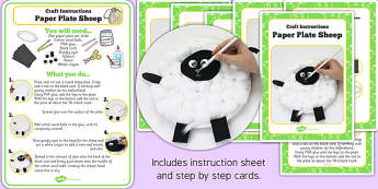 Paper Plate Sheep Craft Instructions - craft instructions, sheep