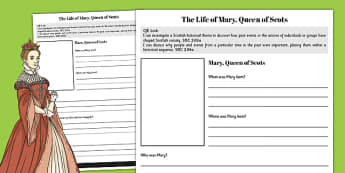 Mary Queen of Scots Fact File - fact file, scotland, mary, queen, scots