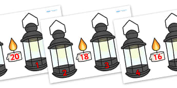 Lamp and Candle Number Bonds to 20 - lamp number bonds, lamp and candle number bonds, candle lamp number bonds, number bonds to 20, florence nightingale