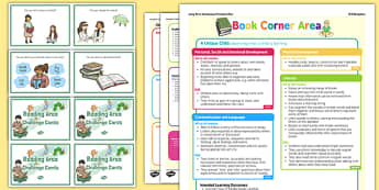 Reading Area Continuous Provision Plan Poster and Challenge Cards Pack Reception FS2