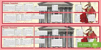 Roman Timeline - romans, timeline, history, visual aid, display