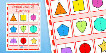 Vertical Lines of Symmetry Display Poster KS1 Year 2 - vertical