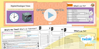 French: What's the Time?: What's on Television? Year 4 Lesson Pack 3