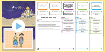 Aladdin with Blanks Level Question Cards - language for thinking, inference, prediction, asking, answering