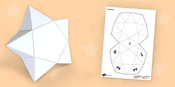 3D Paper Craft Star - 2d, craft, paper, model, star, activity