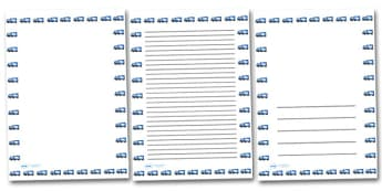 Lorry Portrait Page Borders- Portrait Page Borders - Page border, border, writing template, writing aid, writing frame, a4 border, template, templates, landscape