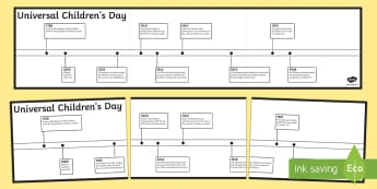 KS2 Universal Children's Day Timeline Activity Sheet