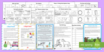 Phase 3  Phoneme Spotter Story Bumper Packk - English, Reading, stories, Phonics, Letters and Sounds, graphemes, EYFS, Reception, Year One, Year T, phase 3