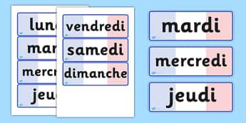 Days of the Week Word Cards - weeks, visual, words, literacy