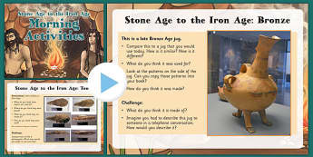 LKS2 Stone Age to Iron Age Morning Activities PowerPoint