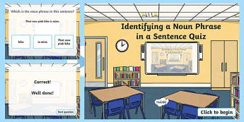 Identifying a Noun Phrase in a Sentence Grammar PowerPoint
