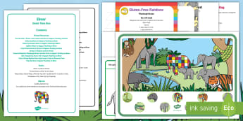 Elmer Quiet Time Box - Elmer, David McKee, colour, elephant, table top activities, patchwork, childminder, early years