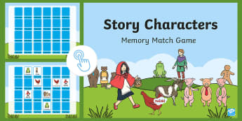 Story Characters Memory Matching Cards Flipchart - Australia, EYLF, Foundation, Book Week, Escape to Everywhere, interactive whiteboard, memory game, m