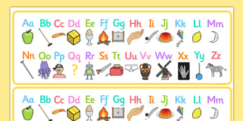 A-Z Alphabet Strips - alphabet strips, alphabet, strips, activity, visual aid, aid