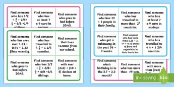 Getting to Know You Maths Bingo Bingo - ROI Back to School Resources, maths, bingo, 4th class, 5th class, 6th class, fourth class, fifth cla