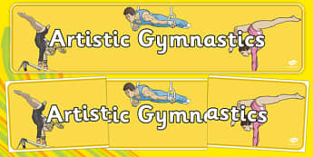 The Olympics Gymnastics Artistic Display Banner - Gymnastics, Olympics, Olympic Games, sports, Olympic, London, 2012, display, banner, poster, sign, activity, Olympic torch, events, flag, countries, medal, Olympic Rings, mascots, flame, compete