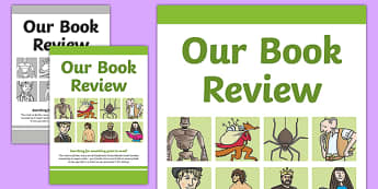 Book Review Folder Cover - reading, books, literacy, english