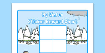 Winter Themed 0-10 Sticker Stamp Reward Chart - winter, themed, 0-10, sticker, stamp, reward chart