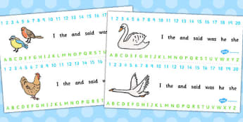 Ugly Duckling Combined Number and Alphabet Strips - strips, story
