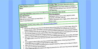 Minibeast Movement EYFS Adult Led Focus Activity - adult focus