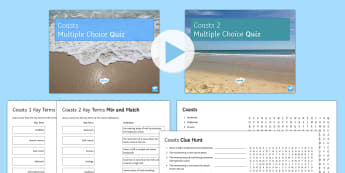 Coasts in the UK Activity Pack - weathering, erosion, coasts, coastline, slumping, rockfall, sliding, slumping, mass movement, manage
